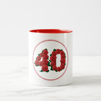 40 Number 40th Birthday Anniversary red mug