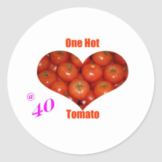 40 One Hot Tomato Round Sticker