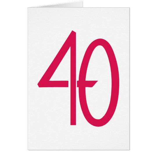 40 Pink Card