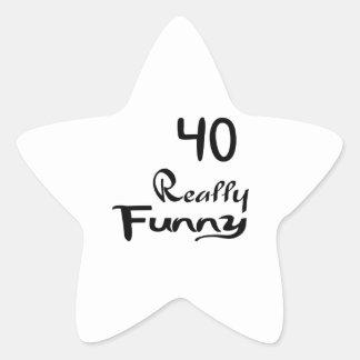 40 Really Funny Birthday Designs Star Sticker