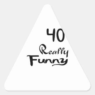 40 Really Funny Birthday Designs Triangle Sticker