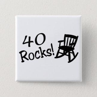 40 Rocks (Black Rocking Chair) 2 Inch Square Button