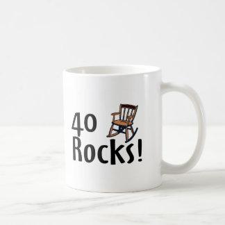 40 Rocks Classic White Coffee Mug