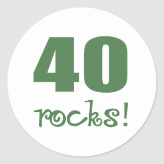 40 Rocks! Round Sticker