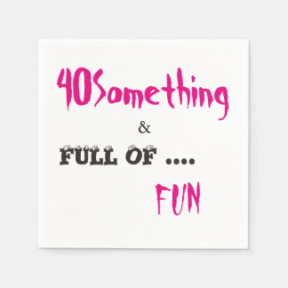 40 Something Celebration Party Paper Napkins