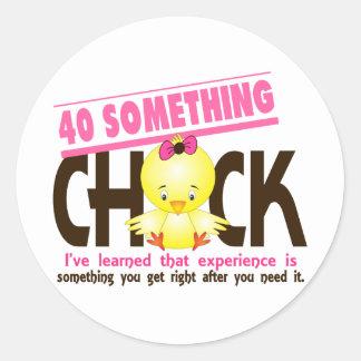 40-Something Chick 2 Round Sticker