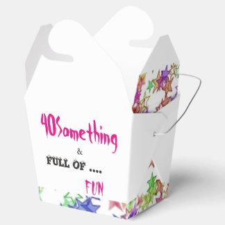 40 Something & Full of Fun Take Out Favor Box