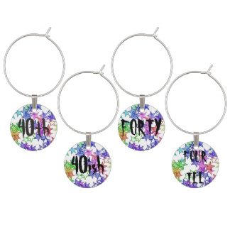 40 Something Party Gift Wine Charm