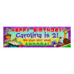 "40""x12"" GiggleBellies Cupcakes B-Day Banner"