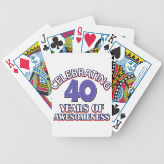 40 year old birthday designs and gifts bicycle playing cards