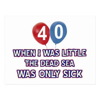 40 year old dead sea birthday designs postcard