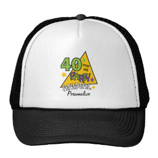 40 Year Old Party Animal   40th Birthday Trucker Hat