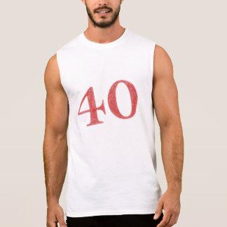 40 years anniversary sleeveless shirt
