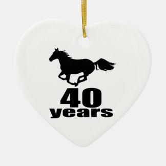 40 Years Birthday Designs Ceramic Ornament