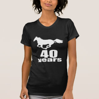 40 Years Birthday Designs T-Shirt