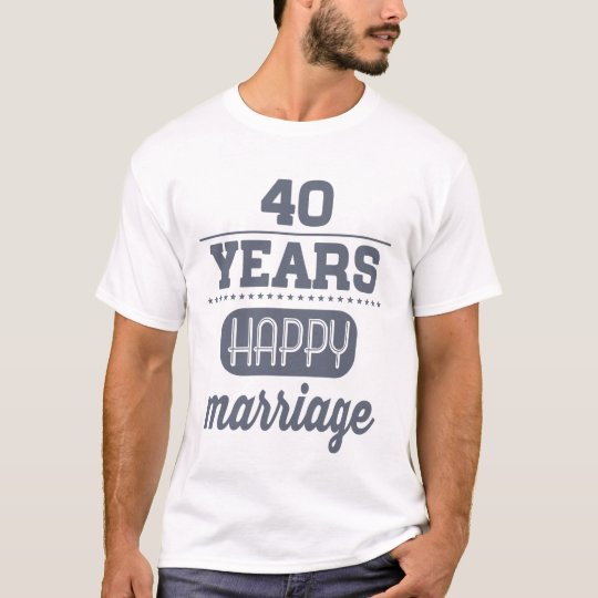40 Years Happy Marriage T-Shirt