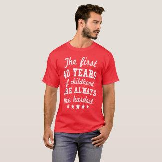 40 Years Of Childhood 40th Birthday T-Shirt