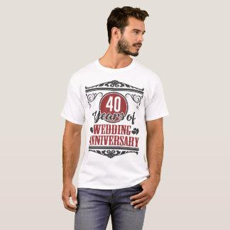 40 YEARS OF WEDDING ANNIVERSARY, 40 YEARS, 40 T-Shirt