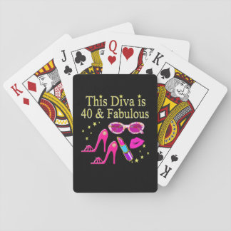 40 YEARS OLD AND A FABULOUS DIVA PLAYING CARDS