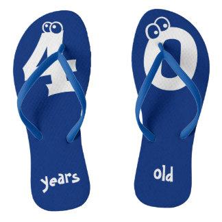 40 years old Cool Birthday Design Flip Flops