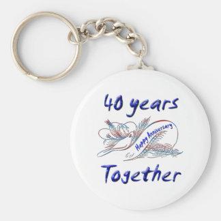 40 Years Together Keychain