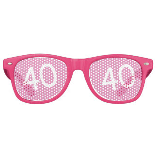40 yr Bday Pink - 40th Birthday Party Sunglasses