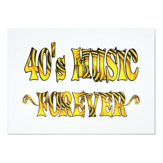 "40s Music Forever 5"" X 7"" Invitation Card"