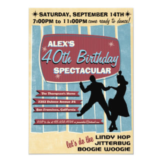 40s Swing Dance Party Invitation