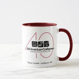 40th 100 American Craftsmen Ringer Mug