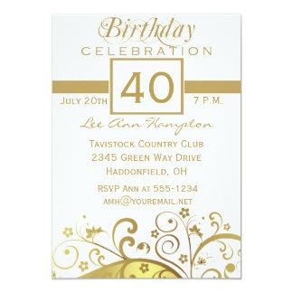 40th - 49th Birthday Party Invitations