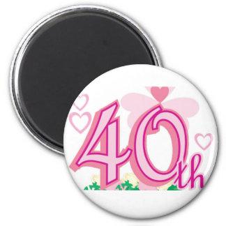 40th anniversary 2 inch round magnet
