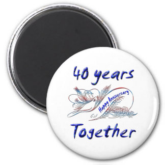 40th. Anniversary 2 Inch Round Magnet