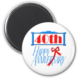 40th anniversary 3 magnets