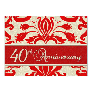 40th Anniversary Business Announcement Red