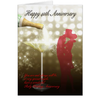 40th Anniversary - Champagne Card