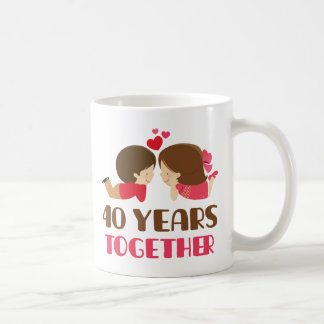 40th Anniversary Gift For Her Coffee Mug