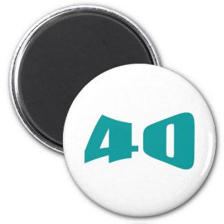 40th Anniversary Invitation 2 Inch Round Magnet