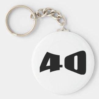 40th Anniversary Invitation Basic Round Button Keychain