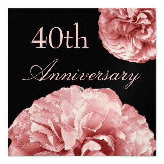 40th Anniversary Invitation PASTEL PINK Roses