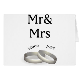 40th anniversary matching Mr. And Mrs. Since 1977 Card