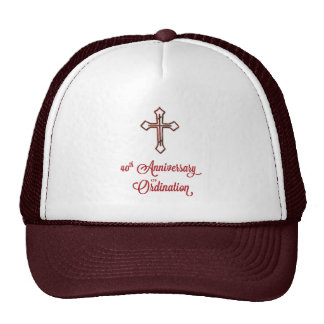 40th Anniversary of Ordination, Ruby Cross on Star Trucker Hat