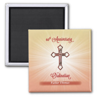 40th Anniversary of Ordination, Square Gift Square Magnet