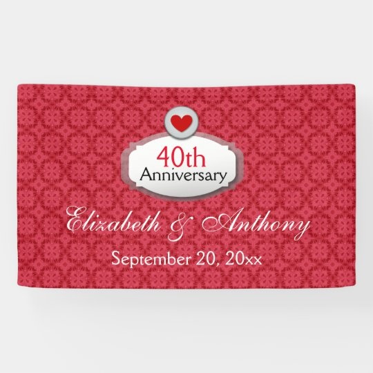 40th Anniversary Red Pattern A01 Banner