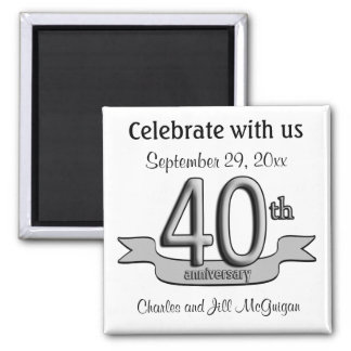 40th Anniversary Save The Date Party Favors Magnet