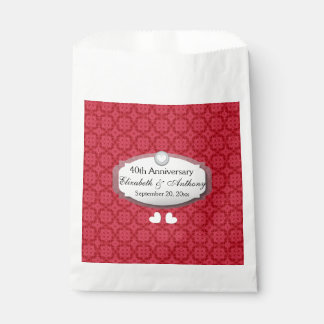 40th Anniversary Wedding Anniversary Ruby Red Z06 Favour Bag