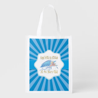 40th Birthday Angel With An Attitude Market Tote
