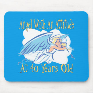 40th Birthday Angel With An Attitude Mouse Pad