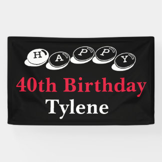 40th Birthday Banner Sale