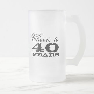 40th Birthday Beer Mug Gift for men with monogram