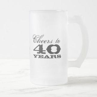 40th Birthday Beer Mug Gift for men with monogram